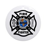 Firefighters Think Green Ornament (Round)