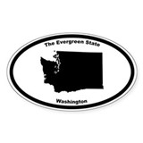 Washington Nickname Oval Decal