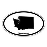 Washington Outline Oval Decal