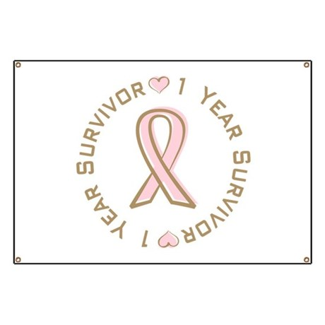 1 Year Breast Cancer Survivor Banner