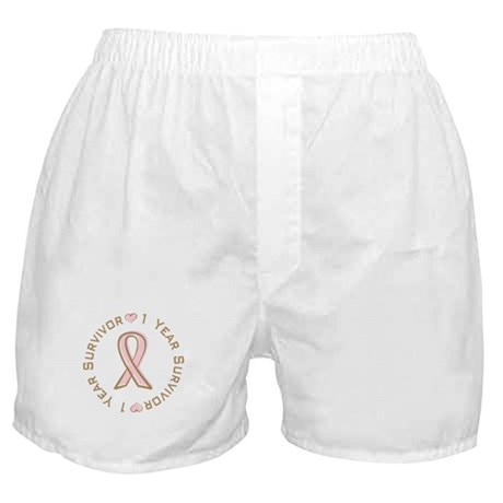 1 Year Breast Cancer Survivor Boxer Shorts