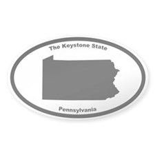 Pennsylvania Nickname Oval Decal