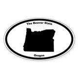 Oregon Nickname Oval Decal