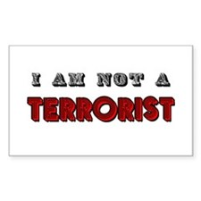 I am not a terrorist Rectangle Decal
