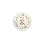2 Year Breast Cancer Survivor Mini Button (100 pac