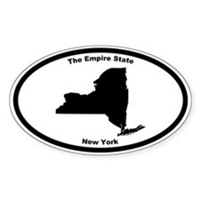 New York Nickname Oval Decal