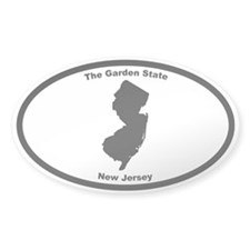 New Jersey Nickname Oval Decal