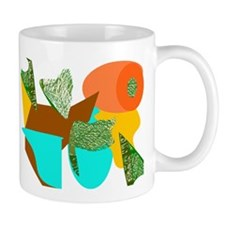 Green & Orange Designs Mug 2 0f 4
