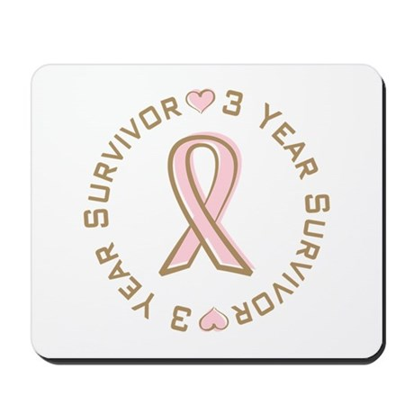 3 Year Breast Cancer Survivor Mousepad
