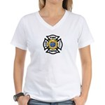 Firefighter Energy Women's V-Neck T-Shirt