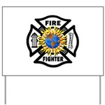 Firefighter Energy Yard Sign