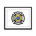 Firefighter Energy Framed Panel Print