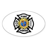 Firefighter Energy Oval Sticker