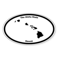 Hawaii Nickname Oval Decal