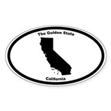 California Nickname Oval Decal