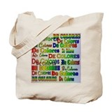 De Colores Fonts Tote Bag