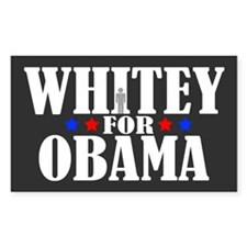 Whitey for Obama Rectangle Sticker 10 pk)