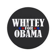 """Whitey for Obama 3.5"""" Button (100 pack)"""