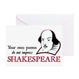 Shakespeare Emo Poems Greeting Cards (Pk of 10)