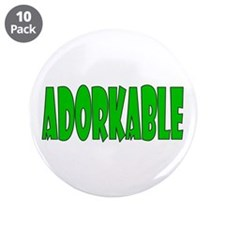 "Adorkable 3.5"" Button (10 pack)"