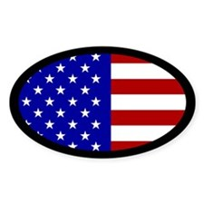 U.S Flag oval sticker