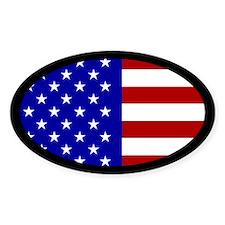 U.S Flag oval sticker