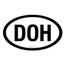 Doh oval sticker