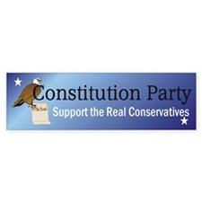 Constitution Party Teepossi Bumper Sticker