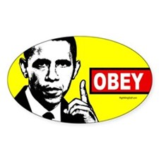 Anti-Obama OBEY Oval Sticker (10 pk)