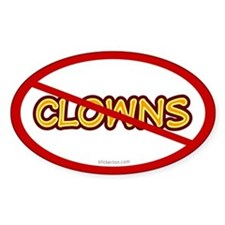 Anti Clown Oval Decal