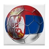 Serbian football Tile Coaster