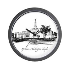 Spokane, Washington Temple 2 Wall Clock