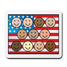 America People of Many Colors Mousepad