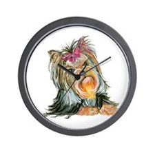 Yorkie Gifts for Yorkshire Terriers Wall Clock