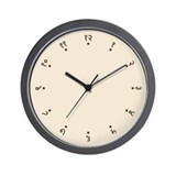 Quaint Wall Clock with Sanskrit Hindi Numbers