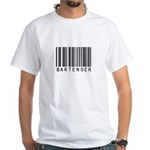 Bartender Barcode White T-Shirt