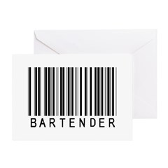 Bartender Barcode Greeting Card