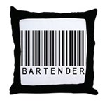 Bartender Barcode Throw Pillow