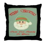 Santas Wish Throw Pillow