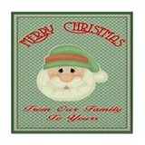 Santas Wish Tile Coaster
