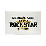 Medical Asst Rock Star by Night Rectangle Magnet