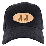 Brown Roller Skates Black Cap