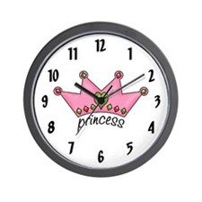 Pretty in Pink Princess Wall Clock