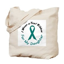 Teal Ribbon For My Daughter 4 Tote Bag