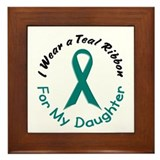 Teal Ribbon For My Daughter 4 Framed Tile