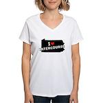 I Heart Intercourse Amish PA Women's V-Neck T-Shir