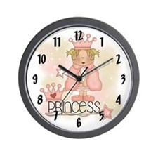 Royal Blond Princess Wall Clock