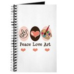 Peace Love Art Teacher Artist Journal