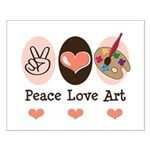 Peace Love Art Teacher Artist Small Poster