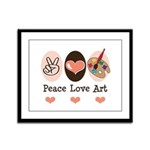 Peace Love Art Teacher Artist Framed Panel Print